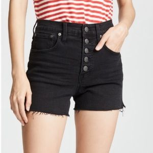 🆕 Madewell Button Up Denim Jeans Shorts